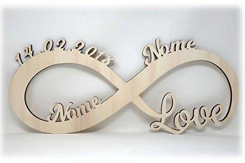 727a286e9c Luce Regali di nozze Amore infinito Regalo Anniversario Matrimonio con Nome  per Ragazza Ragazzo Donna per l'anniversario per lei lui San Valentino Ti  Amo: ...