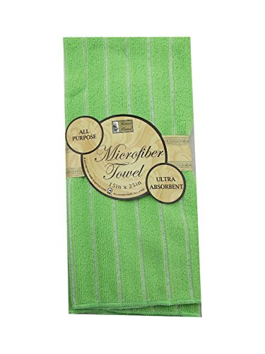 Green Microfiber Drying Mat Towel 15x25 ( sold by a set of 3 )