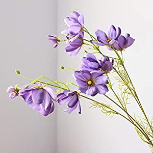 JYTNB Artificial Flowers, Bouquets of Rhododendron, Wedding Supplies Home Decor Living Room Bouquet Decoration,Purple 17