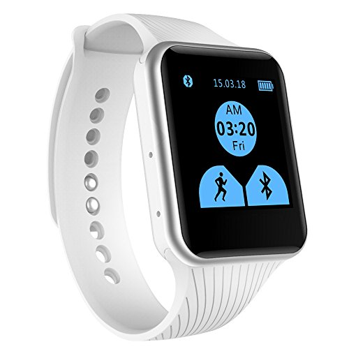 EFOSHM X15 Smart Watch,Bluetooth Watch Phone Mate For iOS Apple iPhone and Android Sumsung HTC Symbian Blackberry Windows SmartPhones. BIG ADVANTAGE- Don't NEED INSTALL APP. (White)