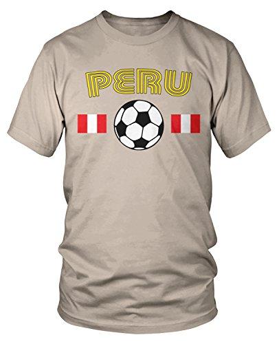 - Amdesco Men's Peru Soccer, Peruvian Football Pride T-Shirt, Putty 2XL