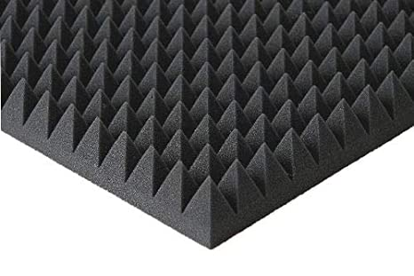 Akustikpur Pyramidenschaumstoff SELBSTKLEBEND Akustik Schaumstoff Dämmung 3cm