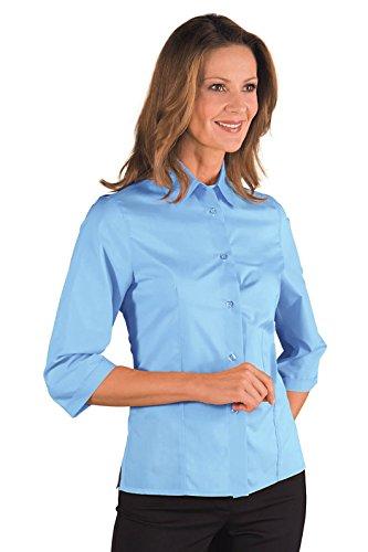 Isacco-Camisa para mujer de Kioto manga 3/4, color azul cielo