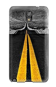 Durable Grayscale Nature Black Road Amp Digital Back Case/cover For Galaxy Note 3