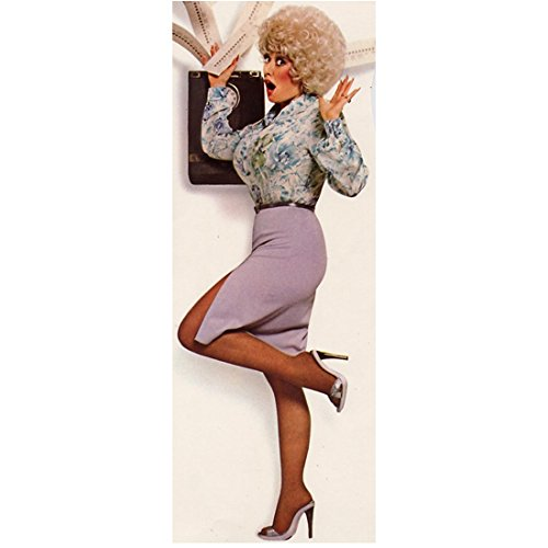 Dolly Parton (8 inch by 10 inch) PHOTOGRAPH Recording Artist 9 to 5 Steel Magnolias The Best Little Whorehouse in Texas Full Body Standing on One Foot w/White Background kn