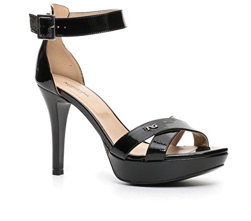 Nero Giardini sandalo elegante con tacco alto P717881DE 100 NAPLAK NERO TPU CASERTA NERO 156 nuova collezione primavera estate 2017