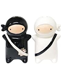 Buy 180 Degrees Pj0345 Japanese Ninja Kids Salt & Pepper Shaker Set, Black and White online
