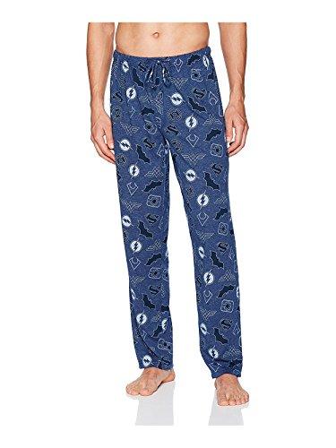 DC Comics Men's Justice League Sleep Pant, Royal Blue, L
