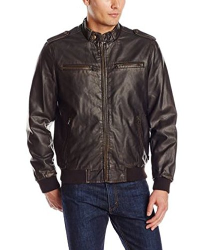 Negro Chaqueta Leather Junction Para Hombre 46FnOInq