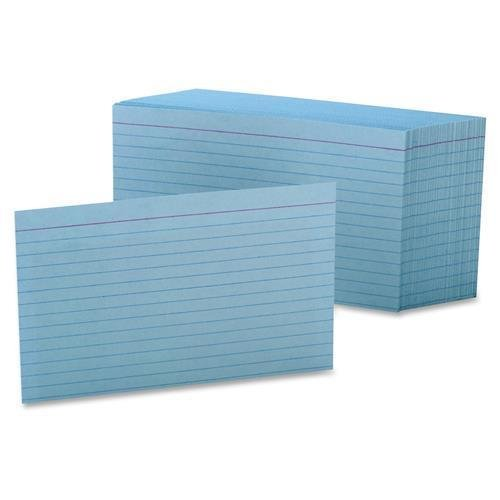 Oxford Colored Index Cards - 7421BLU Oxford Colored Ruled Index Cards - 100 Sheets Index Card 4