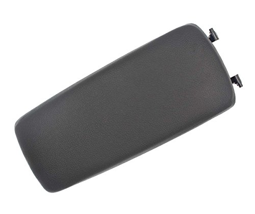 Audi S4 Cover - AUTOKAY Black Leather Armrest Console Box Lid Cover For 2001-2006 Audi A4(B6) S4 A6