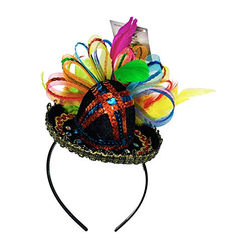 KINREX Cinco de Mayo Fiesta Sombrero - Mexican Sequined Party Sombrero Headband - Top Mexican Sombreros For Party - One Size Fits All]()