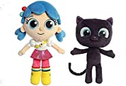 Emishin Filled Plush Plush Plush Doll True Light and Rainbow Kingdom Batu 15cm in The Cat Pull Toy Children