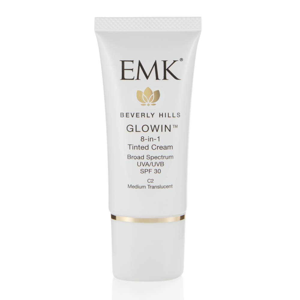 EMK Beverly Hills GLOWIN   8-in-1 Tinted Cream   C2 Medium Translucent   1 fl oz / 30 ml