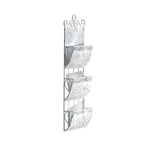 Gifts & Decor Distressed Metal Letter Holder Organizer Metal Tile Letter Holder