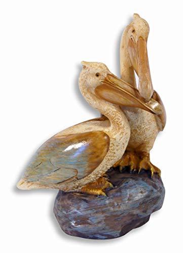 SC Hand Painted Twin Pelican Bird Lovers Figurine 5.25