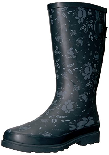 Western Chief Women Wide Calf Rain Boot, Slate Satin Finish, 11 W US (Electronics Deal)