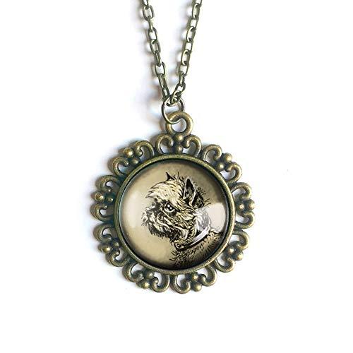 Brussels Griffon pendant necklace