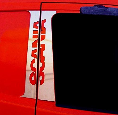 Set di 4 pezzi in acciaio INOX lucido cromato con decorazioni per Scania R l P Series Trucks ES007