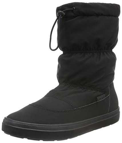 Crocs Mujeres Lodge Point Pull-on Snow Bota Negro