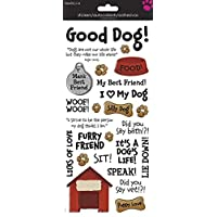 Sandy Lion Dog Phrases Clear Sticker 5.5x12