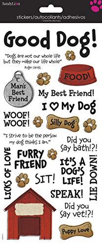 Sandylion Dog Phrases Clear Sticker ()