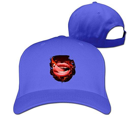 Hot Lips Unisex Men's Cap Originals Low Profile Cotton Snapback Cap (Youth Mid Profile Camo Cap)