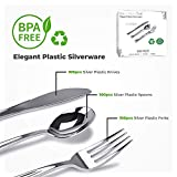 Stock Your Home Silver Plastic Cutlery Set 300 Pack