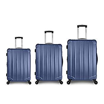 Image of Traveler Space 20/24/28 3-piece ABS Hardside Expandable 360 Spinner Luggage Set (Navy) Luggage