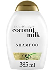 OGX Nourishing and Moisturizing Shampoo for Strong & Healthy Hair, with, Coconut Oil & Egg White Protein