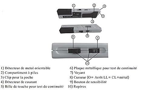 Multi detector de metales/Cable eléctrico - amarillo: Amazon.es: Industria, empresas y ciencia