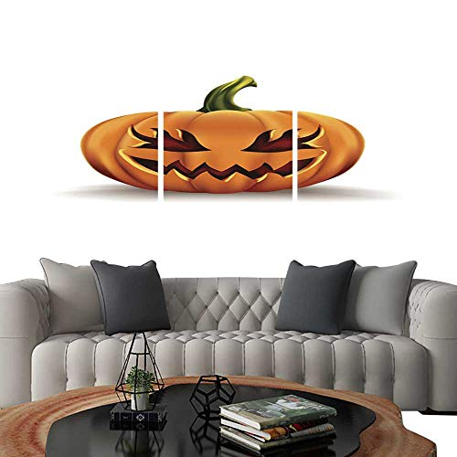 (UHOO Frameless Paintings 3 Pieces Painting CollectionHalloween Pumpkin Isolated on White background6. Hotel Office Decor Gift 24