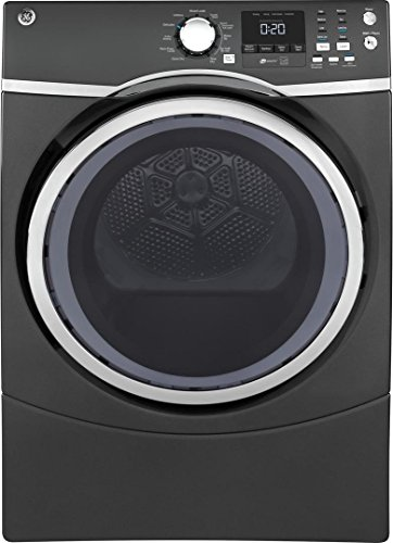 GE Diamond Grey 7.5 Cu. Ft. Front Load Steam Electric Dryer
