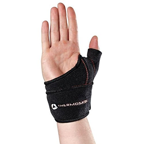 Physical Therapy Aids 081656792 Thermoskin Thumb cmC Wrist Wrap Left Small/Medium Black
