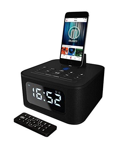 Neptune Speaker Docking Station Bluetooth Alarm Clock FM Radio Lightning...