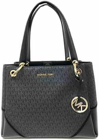 Michael Kors Nicole Large Shoulder Tote bag MK Signature In Black PVC