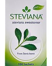 Steviana Sweetener, 100 Sachets x 2.5 g (Pack of 1)