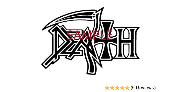 Amazoncom White Death Band Decal Logo Window New Sticker Automotive