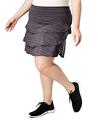 Ideology Women's Plus Size Ruffled Skort