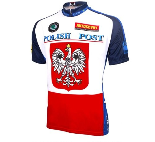 (World Jerseys Men's Polish Post Cycling Jersey, Polish Post, X-Large)