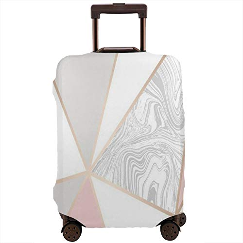 Luggage Cover Wallpaper Rose Gold Marble Personalized Travel Suitcase Cover Protector Bag Dustproof Washable Fits 18-32 Inch Luggage ()