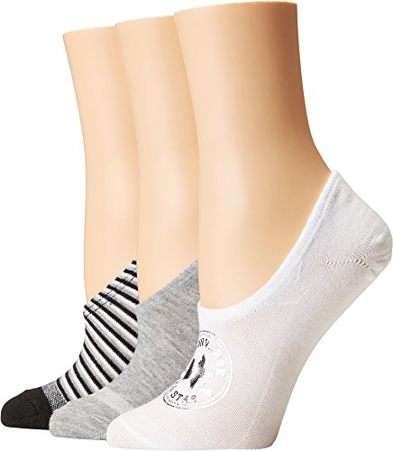 Converse Women's 3-Pack Mirrored Chuck Patch Made for Chuck White/Grey/Black One Size