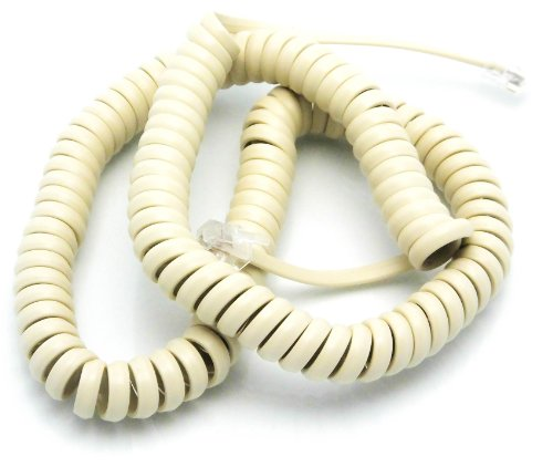 Telephone Cord Handset Curly - Phone Color Classic Clay Tan 15ft - Works on virtually all Trimline Phones and Princess Telephones - Landline Telephone Accessory iSoHo (Princess Cords)