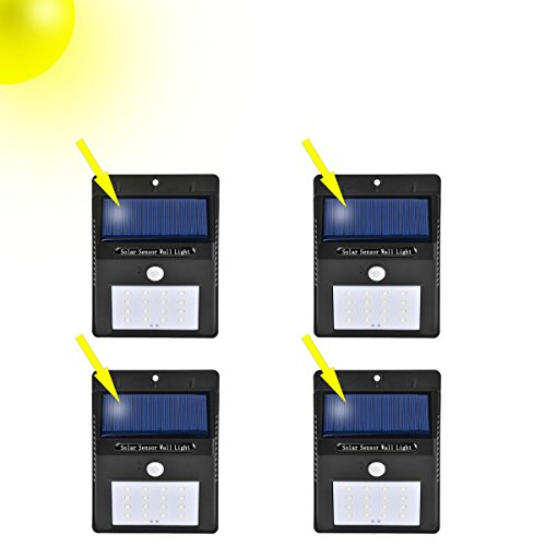 Cheap Ugetde Solar Lights 16 LED Wireless Motion Sensor Outdoor Light , Super Bright Waterproof Outdoor Motion Sensor Automatic Solar Light for Patio, Deck, Yard, Garden (4)