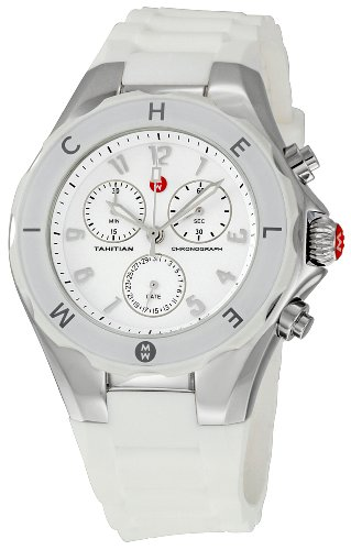 itian Jelly Bean' Quartz Stainless Steel and Rubber Casual Watch, Color:White (Model: MWW12F000001) ()