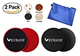 EURANE Set of 4 Gliding Discs Sliders Exercise Core, Dual Sided for Carpet or Hardwood Floors - Trainer Fitness Equipment for Abdominal, Total Body Workouts