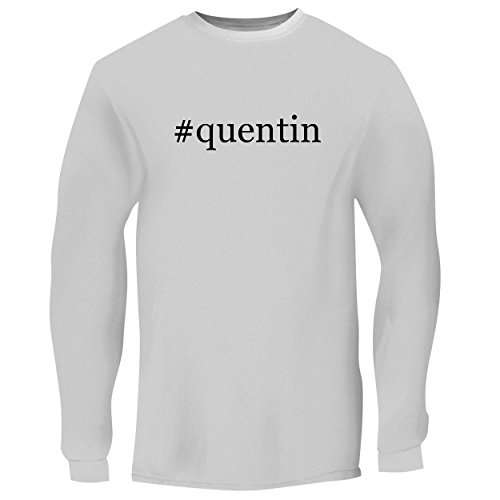 BH Cool Designs #Quentin - Men's Long Sleeve Graphic Tee, White, X-Large