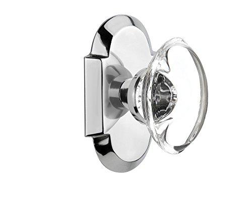 Chrome Oval Knob - 6