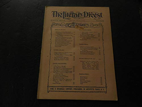 The Literary Digest Mar 7 1903 U.S. Senate; Old Age; Electric Furnace