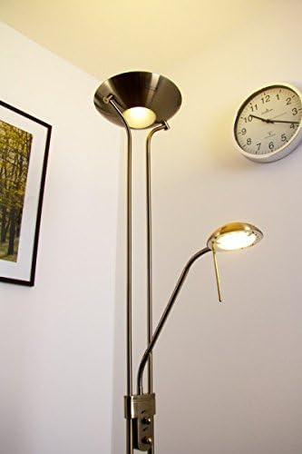 L/ámpara de pie LED de lat/ón antiguo Rom con brazo de lectura